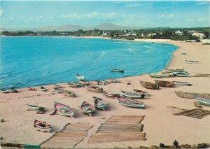 Africa Tunisia Carthage harbour fishing boats sea