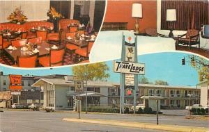 Provo Utah~TraveLodge~Village Inn Restaurant~Bell Telephone Booth~1960s Postcard