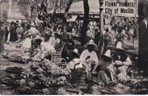 Mexico Mexico City Flower Vendors Real Photo