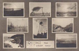 RP: 8-view postcard of Aruba , Neth. W.I. , PU-1938