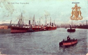 SCOTLAND, GLASGOW. THE CLYDE FROM PRINCESS DOCK 1911