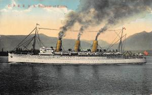 Canadian Pacific RMS Empress of Russia ship Postcard
