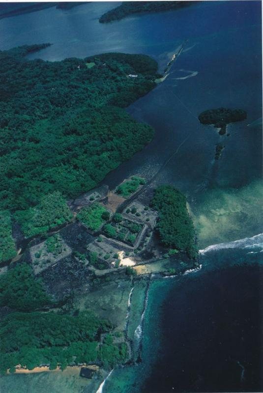 Aerial View of Nan Madol Ruins - Pohnpei Ponape Micronesia