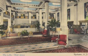 ROCHESTER , New York , 1930-40s ; The Lobby-Hotel Seneca