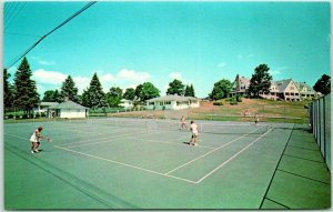 Melvin Village, New Hampshire Postcard BALD CREEK COUNTRY CLUB Tennis Court