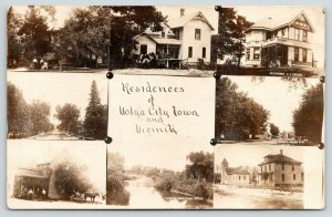Volga City Iowa~8 Multi Mini Views~EF Pardee Home~Residence Street~1909 RPPC