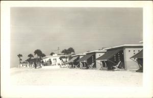 Florida Beach Cabanas - Sarasota or Vero? Real Photo Postcard