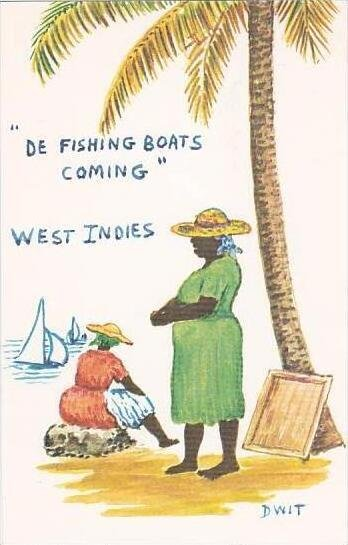 West Indies De Fishing Boats Coming Dwit