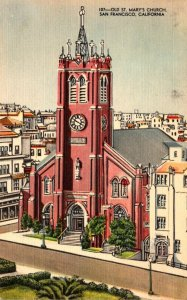 California San Francisco Old St Mary's Church 1950