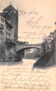 Switzerland Old Vintage Antique Post Card Brgg Schwarzer Thurm 1902