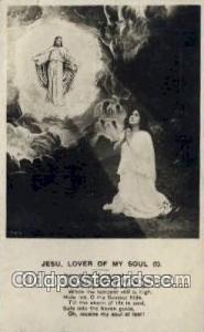 Jesu lover of my soul Religion, Religious Old Vintage Antique Postcard Post C...