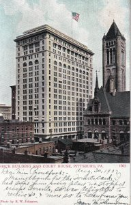 PITTSBURGH, Pennsylvania, PU-1907; Frick Building And Court House