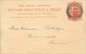 Entier Postal Stationery 1p Ayr in 1896 for Vienna