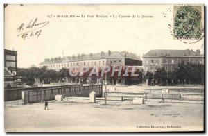 Postcard Old Customs Customs Customs St Nazaire The crane Barracks Customs