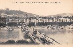 France Lyon Pont Lafayette Perspective et Quai de Retz Bridge Tram Panorama