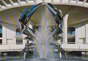 Canada Crab Sculpture Fountain H R MacMillan Planetarium Vancouver British Co...