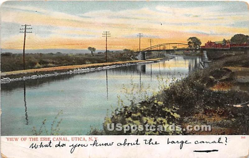 Erie Canal Utica NY Unused