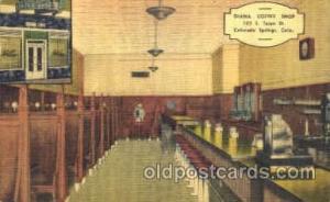 Diana Coffee Shop, Colorado Springs, Colorado USA Postcard Post Card Diana Co...