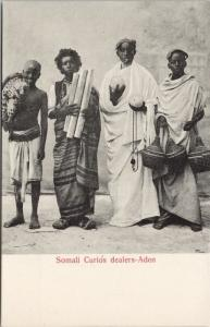 Somali Curios Dealers Aden Vendors Merchants Somalia Africa Unused Postcard E37