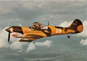 CURTISS P-40 N-40 WARHAWK~SINGLE SEAT FIGHTER BOMBER AIRCRAFT POSTCARD