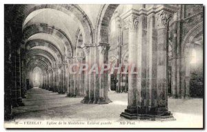 Postcard Old Vezelay Madeleine Church Lateral Left