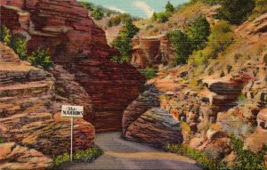 Colorado Williams Canon Entering The Narrows Curteich