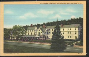 North Carolina colour Green Park Hotel,, Blowing Rock, N.C unused