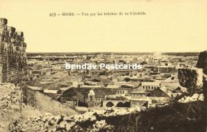 syria, HOMS, View through the Breaches of the Citadel (1920s) Neurdein 613