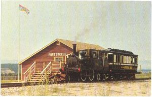 Dunrobin Locomotive & Coach at Fort Steele, British Columbia, BC, Chrome