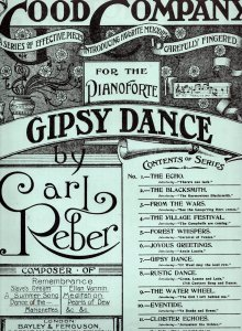 Carl Reber Gypsy Gipsy Folk Dance Morris Dancing Olde Sheet Music
