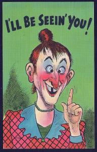 I'll Be Seeing You! Lady with a Huge Red Nose used c1953