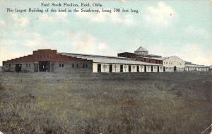 Enid Oklahoma Stock Paviluon Street View Antique Postcard K91266