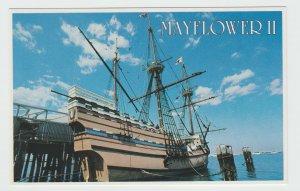 Massachusetts MA Plymouth Mayflower II Ship Postcard