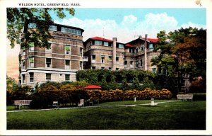 Massachusetts Greenfield The Weldon Hotel 1933