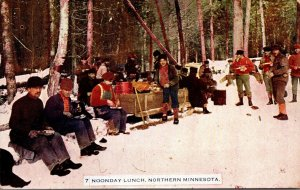 Minnesota Noonday Lunch In Northern Minnesota 1909