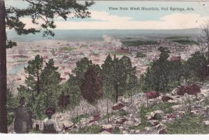 HOT SPRINGS, Arkansas, PU-1909; View From West Mountain