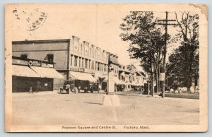 Foxboro Massachusetts~Foxboro Square & Centre Street~Hoods Ice Cream~1932