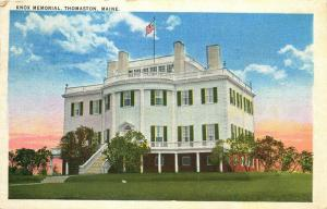 Thomaston, Maine, ME, Knox Memorial, 1941 Linen Antique Vintage Postcard e2251