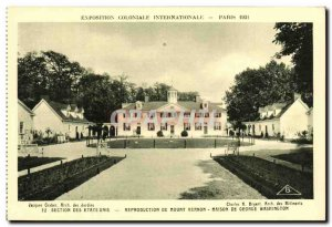 Old Postcard Exhibition Paris 1931 International Colonlale Section From the U...