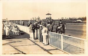 Miami FL Hialeah Horse Racing At The Post Real Photo Postcard