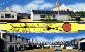 Circle Inn Motel, Long Beach, CA, USA Motel Hotel Postcard Post Card Old Vint...