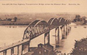 Missouri Boonville New Free Highway Transportation Bridge Albertype sk750