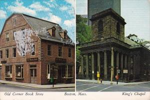 Old Corner Book Store And King's Chapel Boston Massachusetts 1979