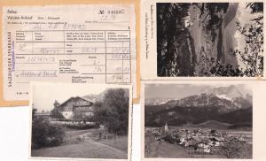 Salzberg Hotel Beleg Salzburger Receipt Photo Postcard