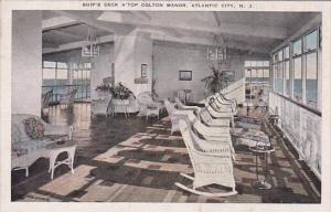 New Jersey Atlantic City Ship's Deck Atop Colton Manoir