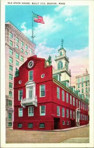Lot of 8 Vintage Boston, Mass State House & Historic Linen Postcards - Unposted