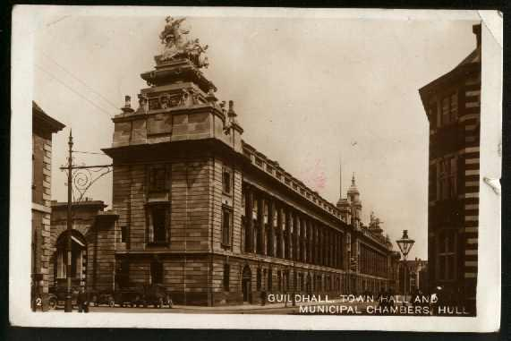 Guildhall, Town Hall & Municipal Chambers, Hull - Used 1933 - Cnr Crease + Nick