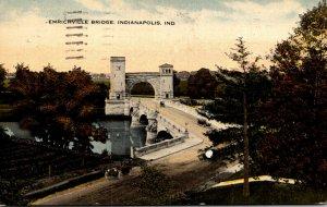 Indiana Indianapolis The Emrichville Bridge 1918