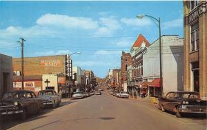 Hopkinsville Kentucky~Main Street~Bill's~Montgomery Ward~NICE 50s Cars