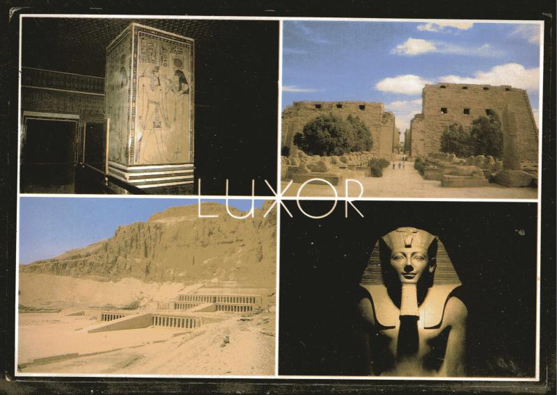 Egyptian  Color Photo Post card, Karnak Temple, Luxor